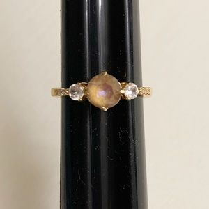 NWT Fragrant Jewels Size 7 Gold Toned Ring